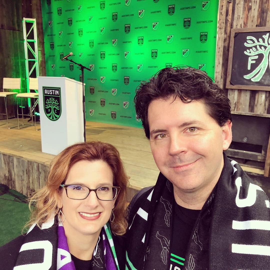 At the Austin FC Announcement