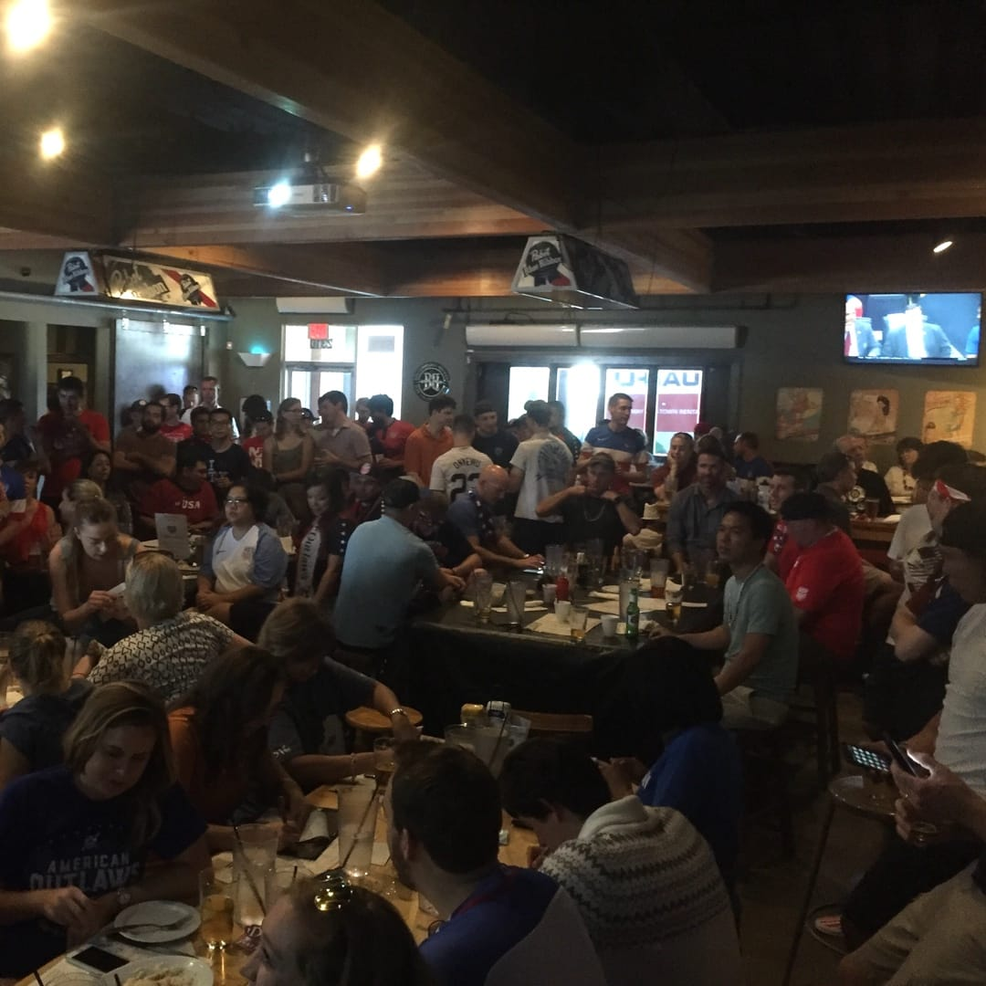 Haymaker Watch Party Crowds